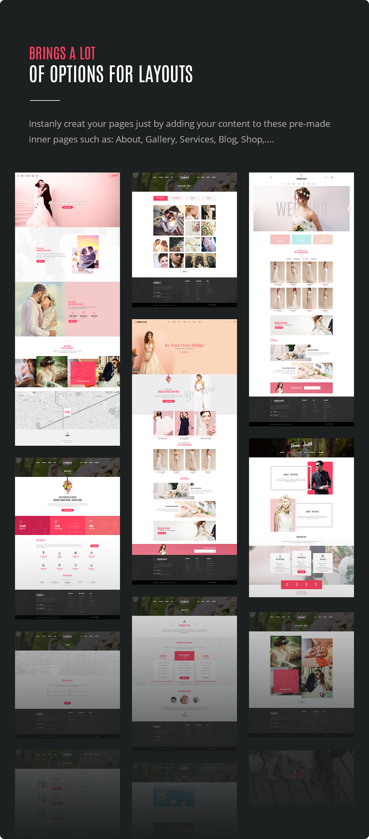 Wedding - All in One WordPress Theme - 8